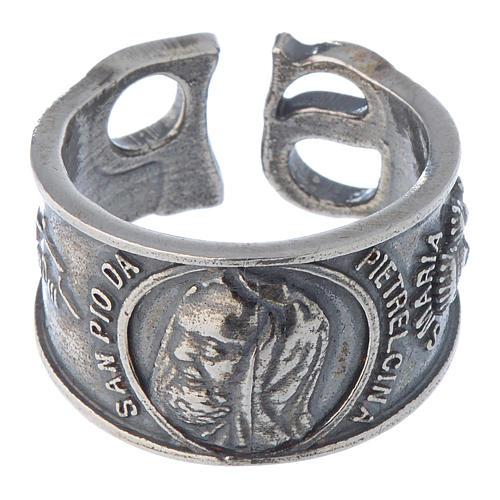 Ring in silver Saint Pio of Pietralcina 2