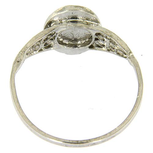 Ring Gottesmutter von Fatima Silber 800 Filigranarbeit 3
