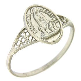 Anello Madonna di Fatima in filigrana argento 800 s1