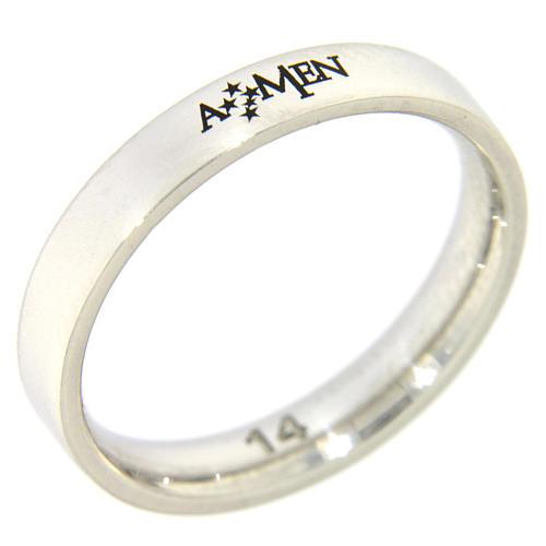 Obrączka AMEN srebro 925 rodowane 1