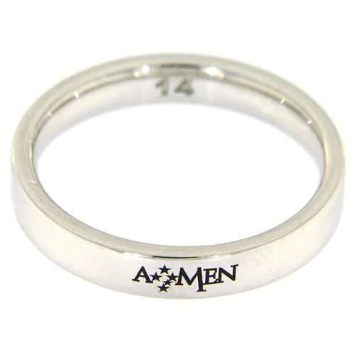 Obrączka AMEN srebro 925 rodowane 2
