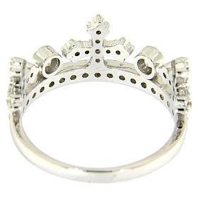 Anillo con corona AMEN plata 925 rodio y zircones s3