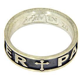Anel prata 925 brunida Pater Noster Amen s3