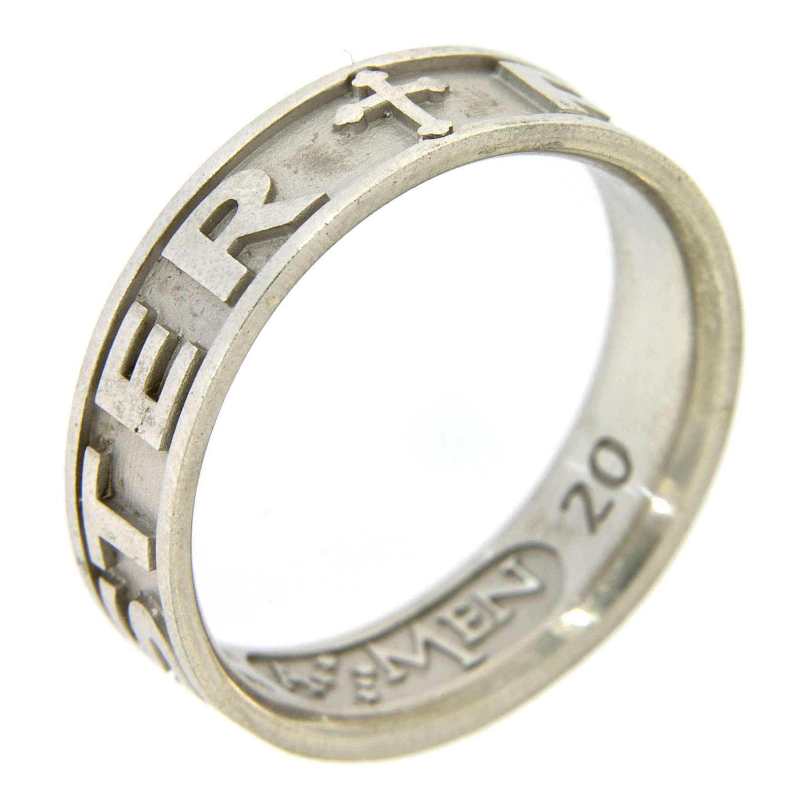 Silver ring Pater Noster AMEN 3