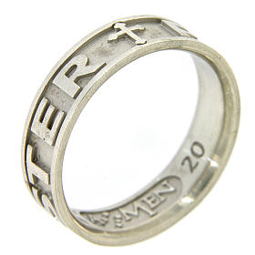 Silver ring Pater Noster AMEN s2
