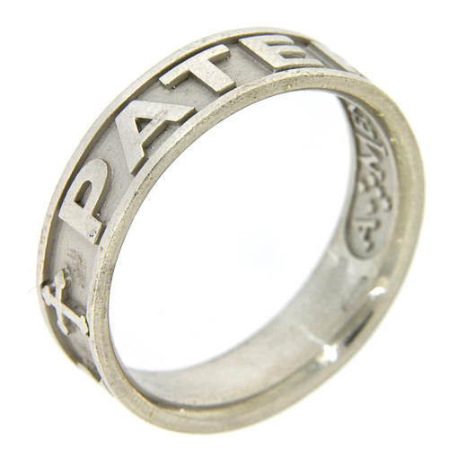 Silver ring Pater Noster AMEN 1