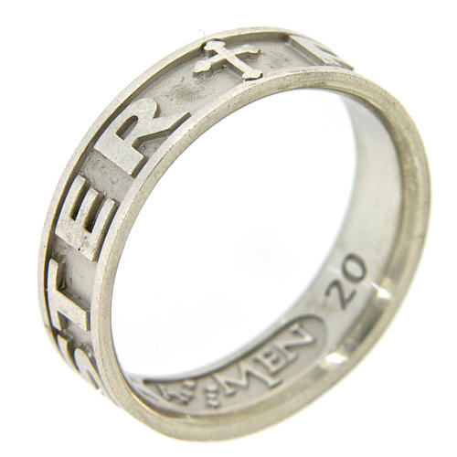 Silver ring Pater Noster AMEN 2