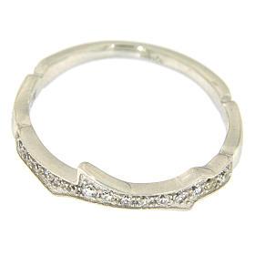 Anello AMEN argento 925 rodio e zirconi bianchi s2
