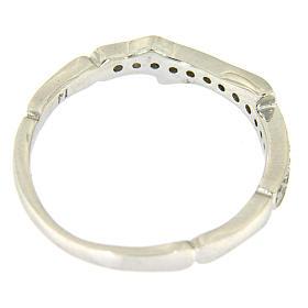 Anel AMEN prata 925 ródio e zircões brancos s3