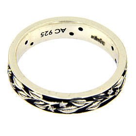 Silver and white zircons ring AMEN s3