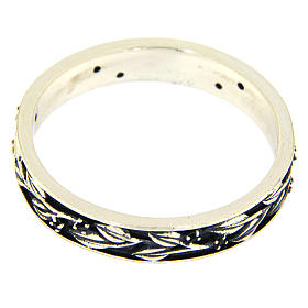 Silver and black zircons ring AMEN s2