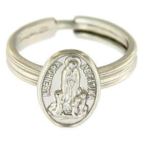 Anillo plata 800 rodiada Virgen de Fátima s2