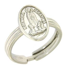 Bague argent 800 rhodiée Notre Dame de Fatima s1