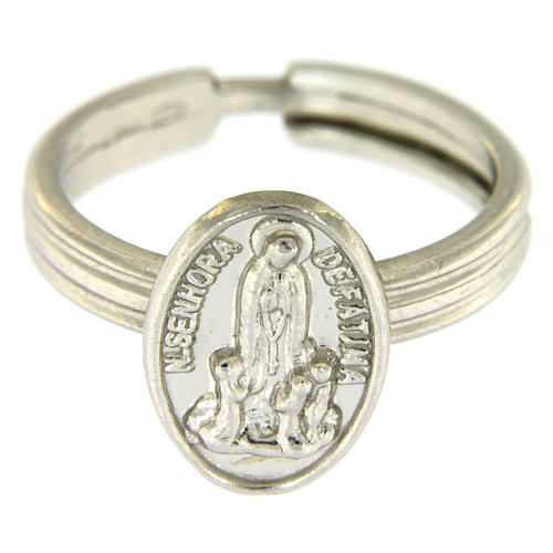 Silver ring Our Lady of Fatima 2