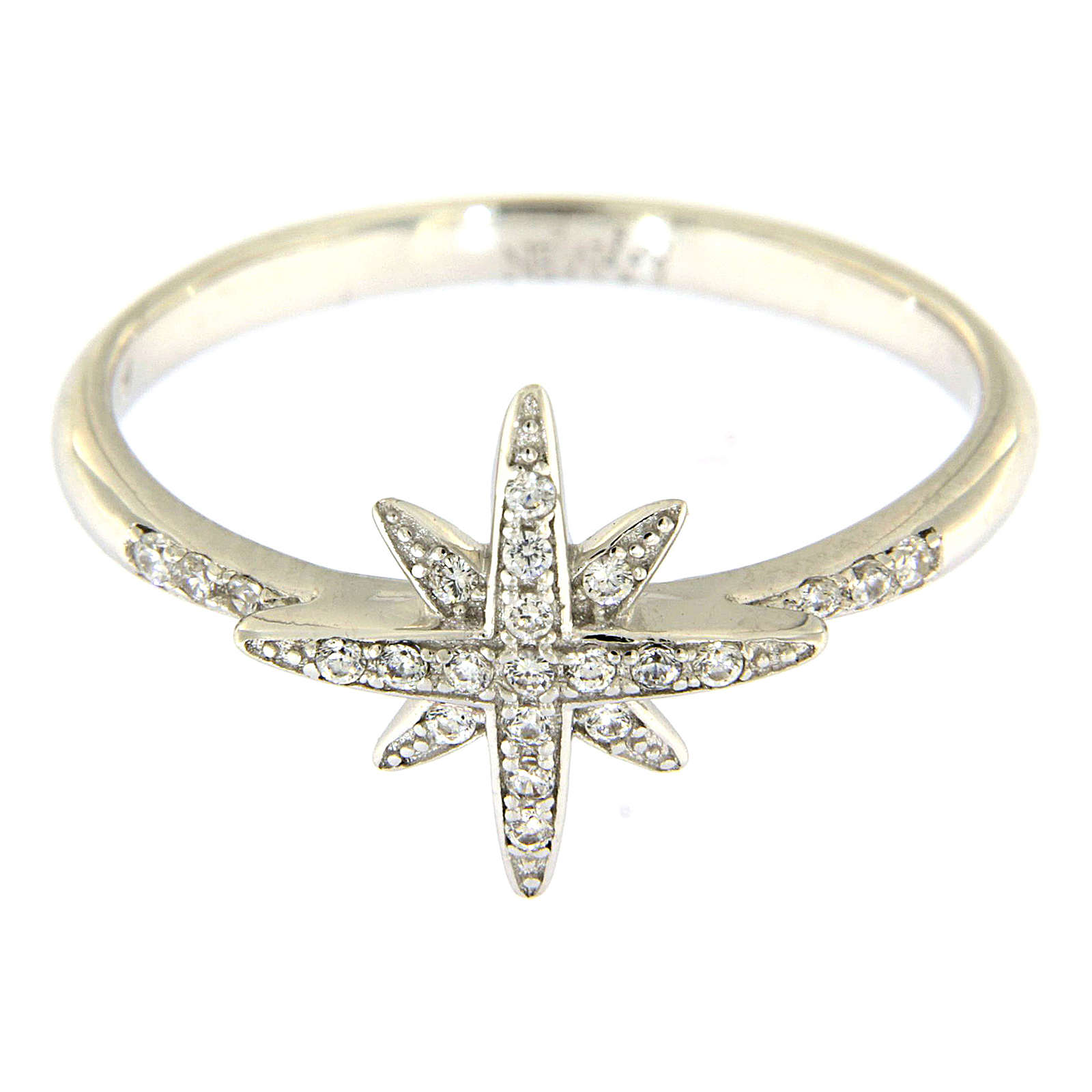 Ring AMEN Silber 925 mit Stern und Zirkonen 3