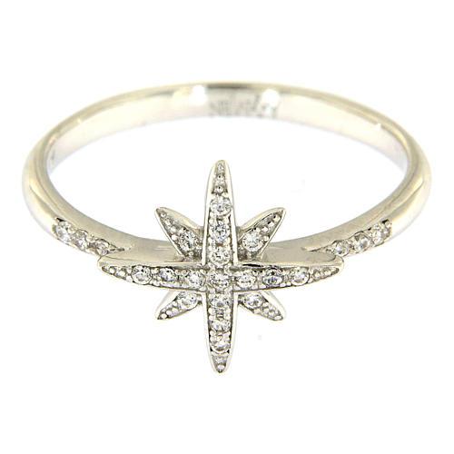 Ring AMEN Silber 925 mit Stern und Zirkonen 2