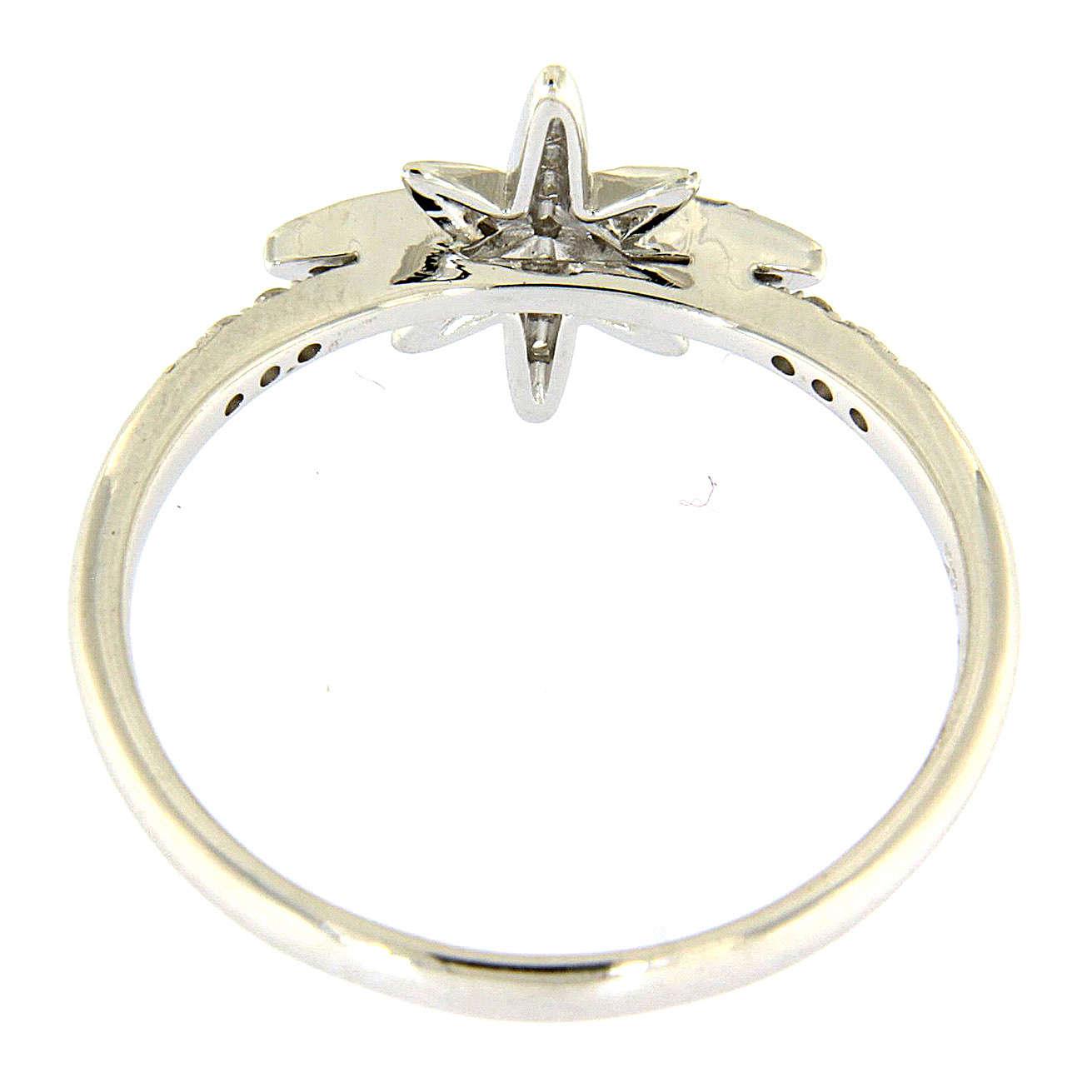 Anello AMEN in Arg 925 rodiato con stella zirconata 3