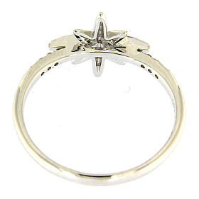 Anello AMEN in Arg 925 rodiato con stella zirconata s3