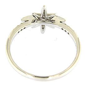 Pierścionek AMEN ze srebra 925 rodowanego z gwiazdą z cyrkoniami s3