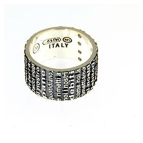 Pierścionek AMEN AG 925 rodowane metalochromowane z modlitwą Padre Nostro s3