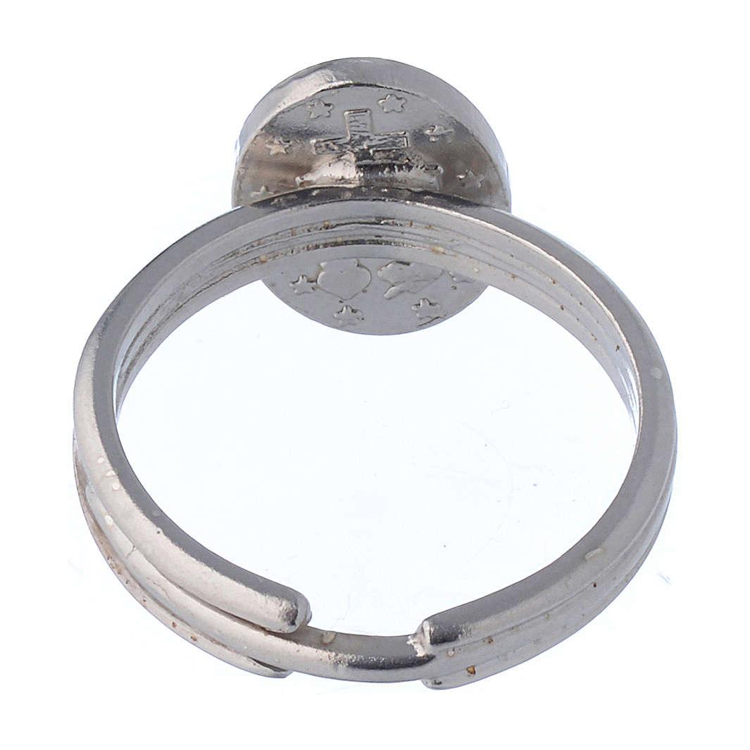 Ring mit wunderbaren Medaille Silber 925 verstellbar 3