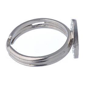 Ring mit wunderbaren Medaille Silber 925 verstellbar s3