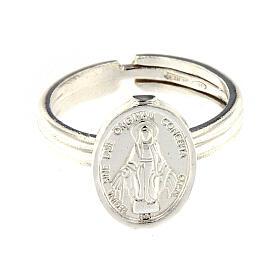 Anillo Medalla Milagrosa plata 925 ajustable s2