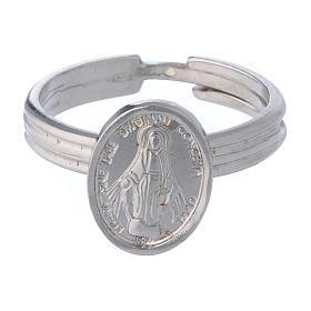 Bague Médaille Miraculeuse argent 925 réglable s2