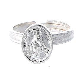 Anello Medaglia Miracolosa argento 925 regolabile
