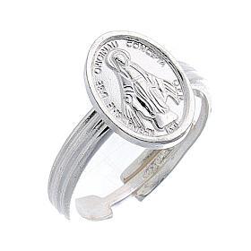 Anel Medalha Milagrosa prata 925 regulável