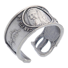 Zamak ring with Our Lady of Lourdes image s1