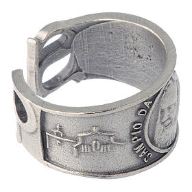 Zamak ring with Our Lady of Lourdes image s4