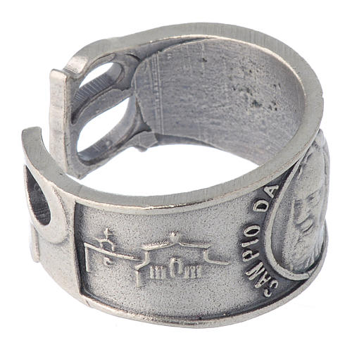 Zamak ring with Our Lady of Lourdes image 4