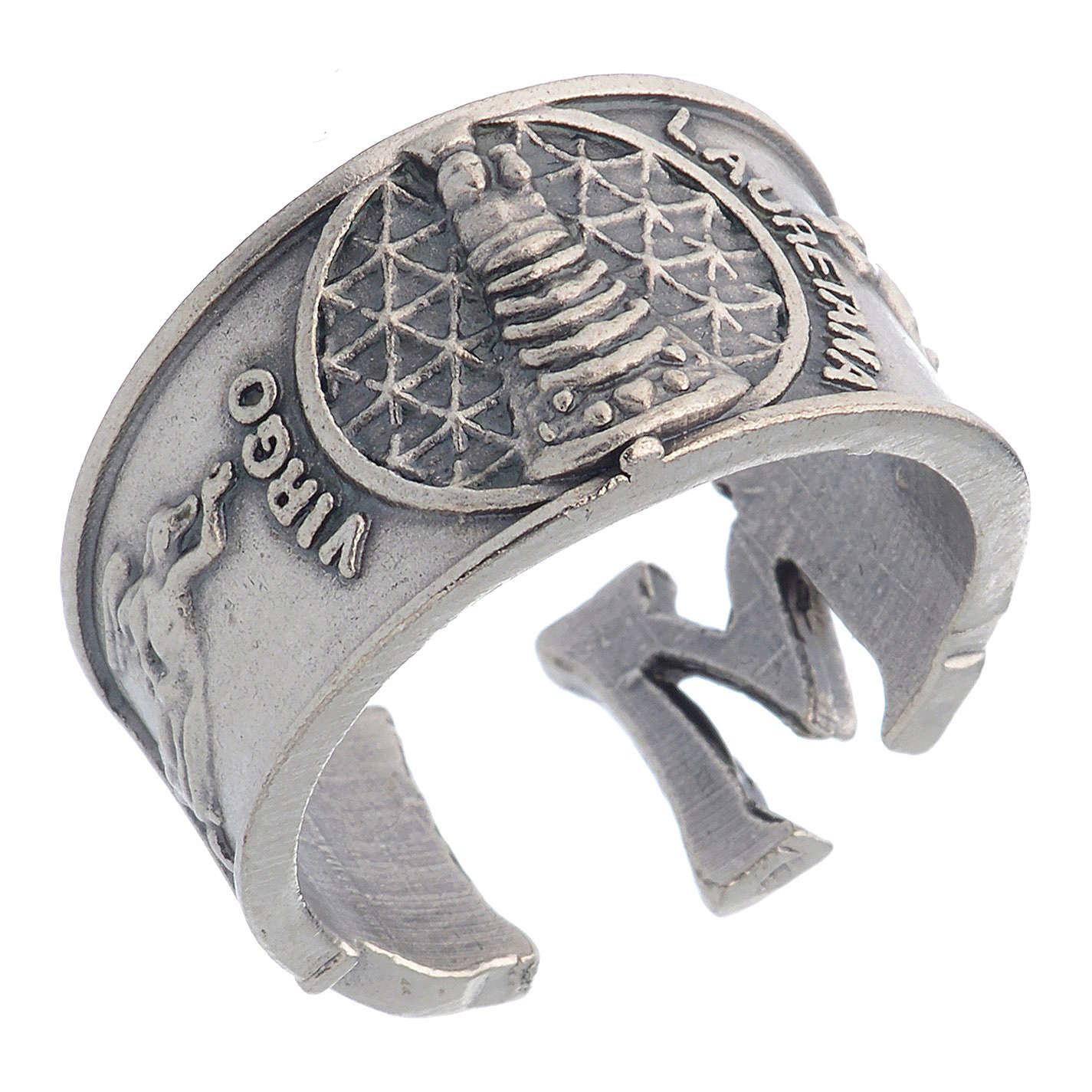 Zamak ring with Our Lady of Loreto image 3