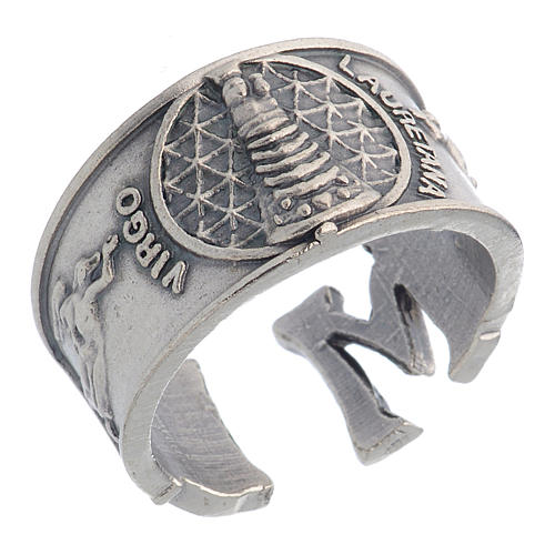 Zamak ring with Our Lady of Loreto image 1