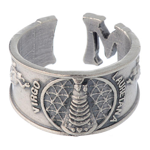 Zamak ring with Our Lady of Loreto image 2