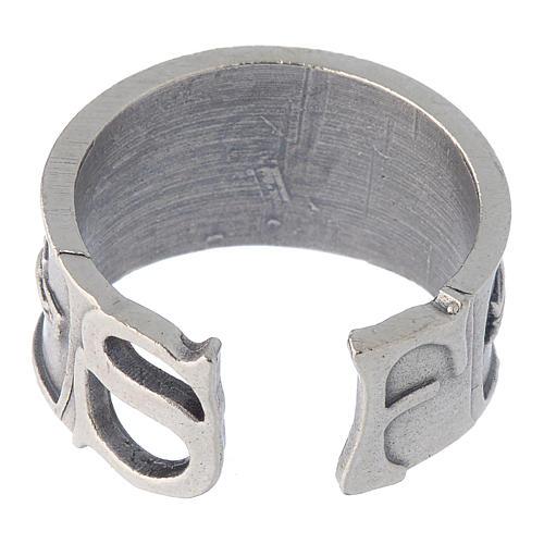 Zamak ring with Saint Francis image 5