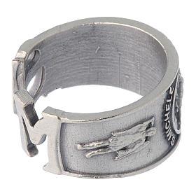 Zamak ring with Saint Michael image s3