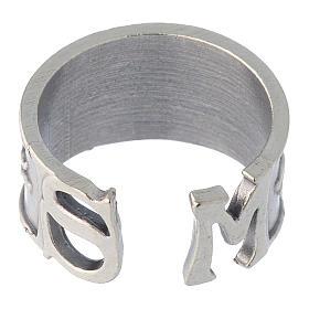 Zamak ring with Saint Michael image s5