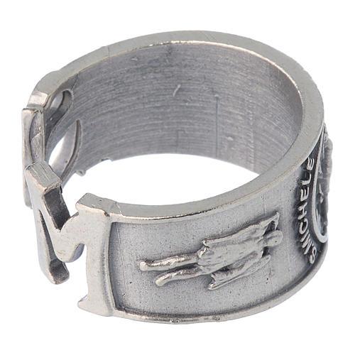 Zamak ring with Saint Michael image 3