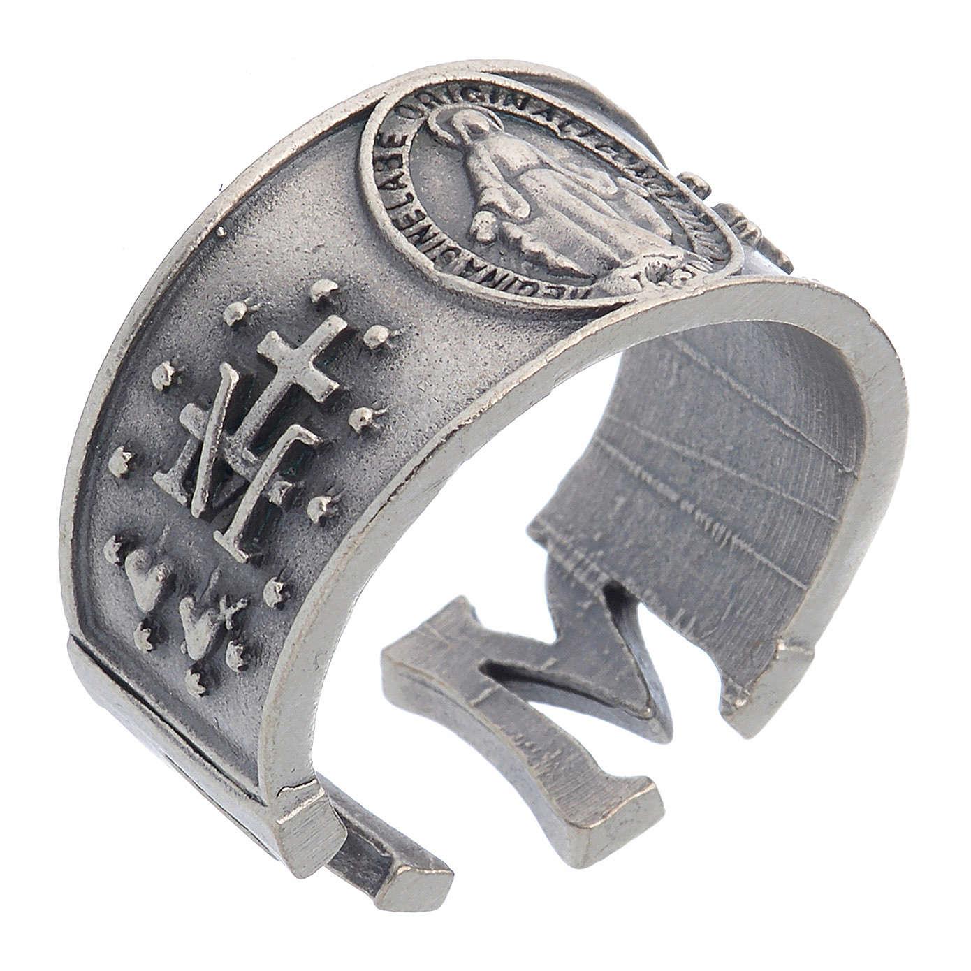 Anillo Medalla Milagrosa zamak 3