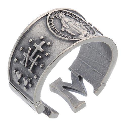 Bague Médaille Miraculeuse zamak 1