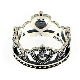 Anello AMEN argento 925 brunito corona  s2
