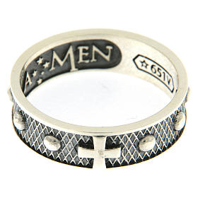 AMEN ring in burnished 925 silver s2