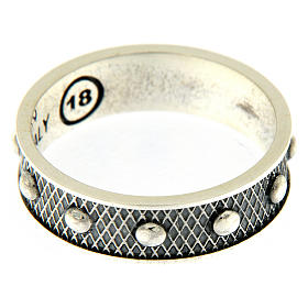 AMEN ring in burnished 925 silver s3