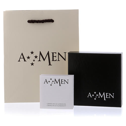 AMEN ring in burnished 925 silver 4
