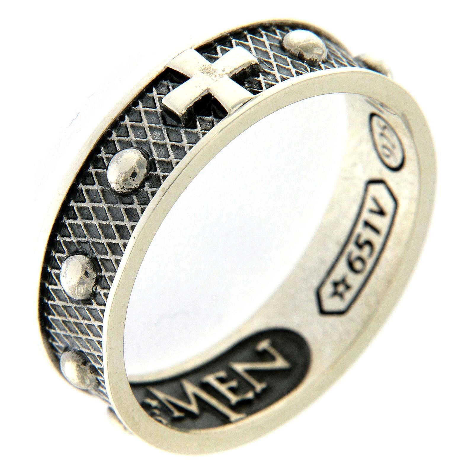 Anillo AMEN decena plata 925 bruñido 3