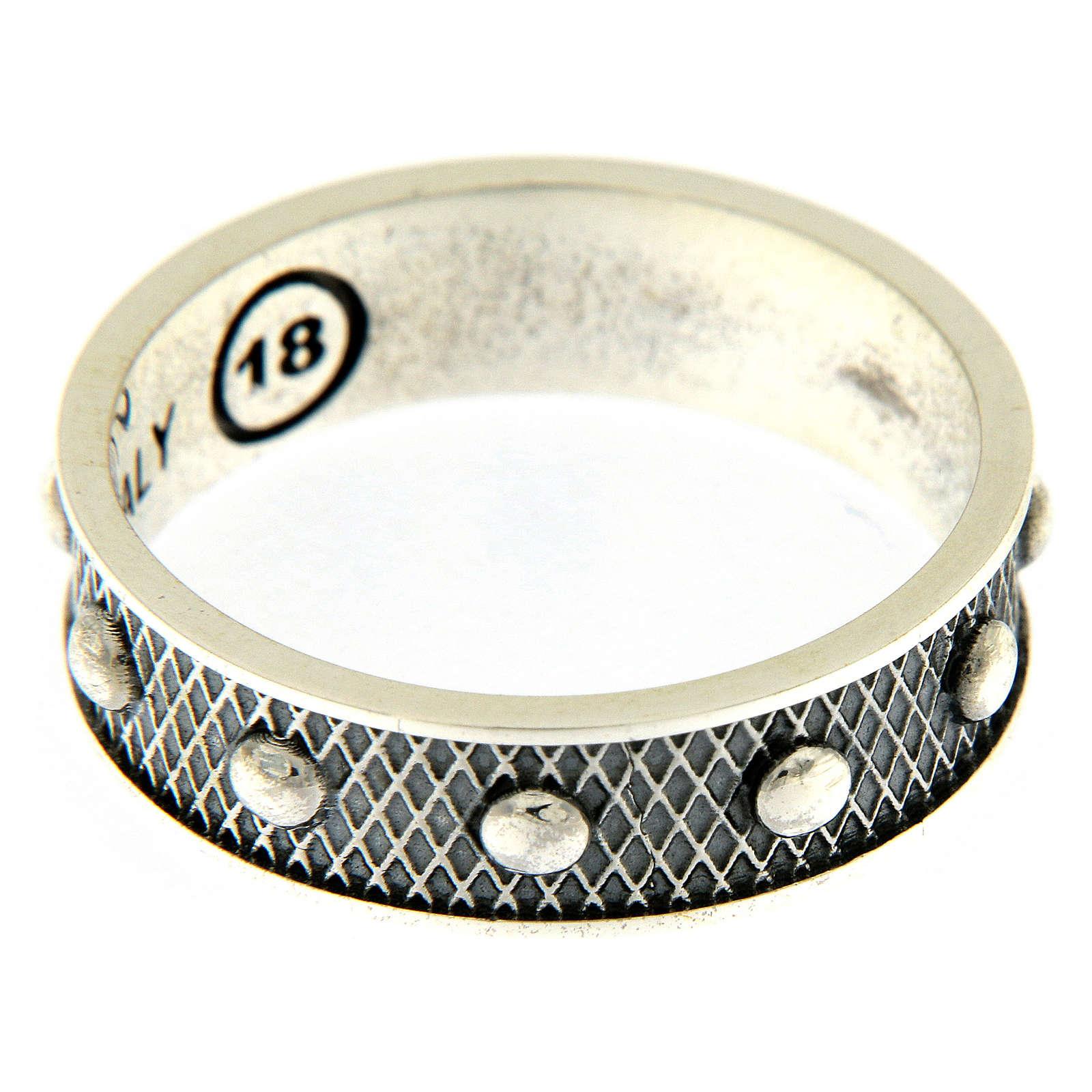 Anello AMEN decina argento 925 brunito 3