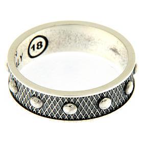 Anello AMEN decina argento 925 brunito s3