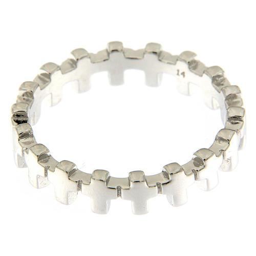 Anello croci AMEN argento 925 2